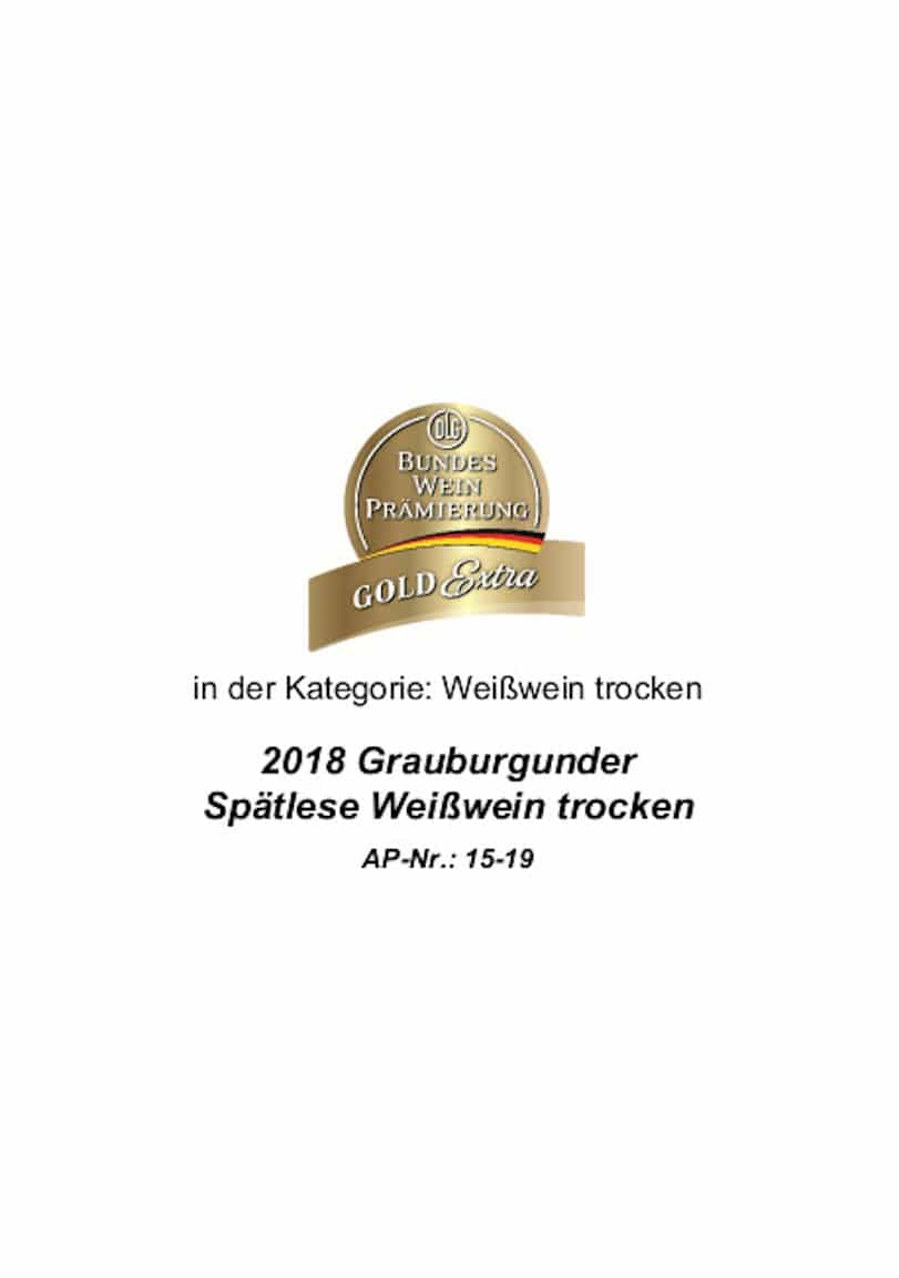 Gold Extra Grauburgunder