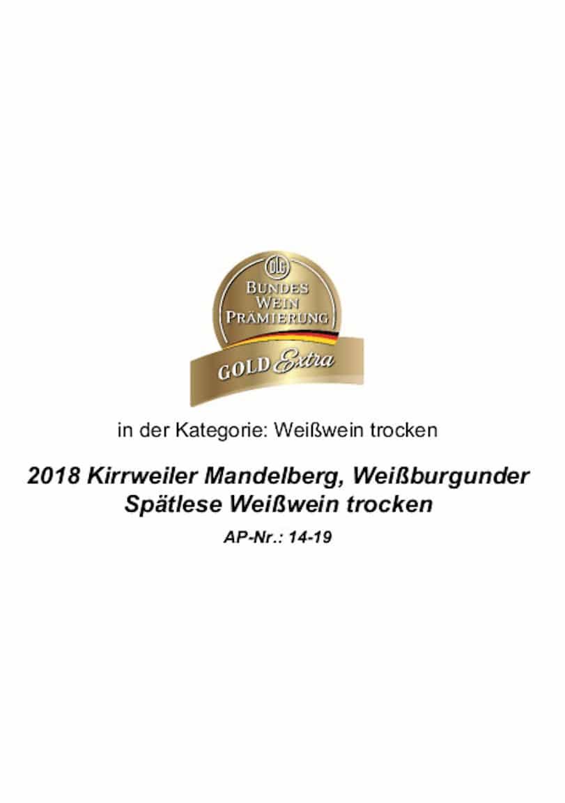 Gold Extra Weißburgunder