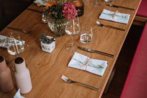 dekorierter Tisch